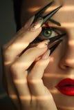 Composição e manicure creativos da forma Fotografia de Stock Royalty Free