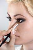 Composição. Escova da sombra para os olhos Imagens de Stock