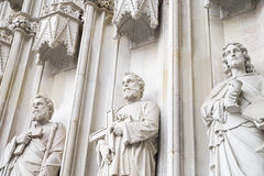 Composição escultural da pedra branca Foto de Stock