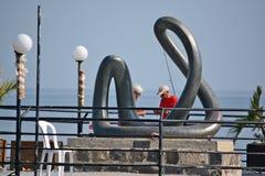 Composição escultural pública Imagem de Stock