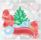 Composição festiva do Natal Imagens de Stock Royalty Free