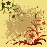 Composição floral de Grunge Foto de Stock