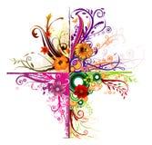 Composição floral do vetor Fotos de Stock Royalty Free