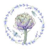 Composição floral do vintage da aquarela ilustração stock