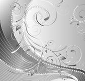Composição floral monocromática Ilustração Stock