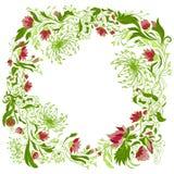 Composição floral redonda Fotos de Stock