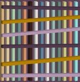 Composição geométrica dos parallelepipeds Composição da cor ilustração royalty free