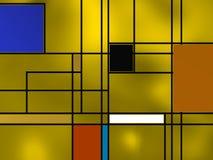 Composição geométrica sobre o amarelo Fotos de Stock