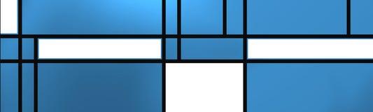 Composição geométrica sobre o lue Fotos de Stock Royalty Free