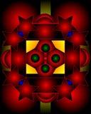 Composição gráfica com uso das estrelas, pentagons ilustração do vetor