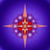 Composição gráfica com uso das estrelas, pentagons ilustração stock
