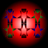 Elementos gráficos em um fundo vermelho com destaque. ilustração royalty free