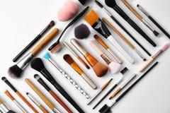 Composição lisa da configuração com escovas da composição Imagens de Stock