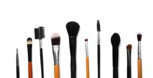 Composição lisa da configuração com escovas da composição Fotos de Stock Royalty Free