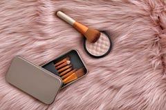 Composição lisa da configuração com escovas da composição Fotografia de Stock