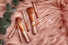Composição lisa da configuração com escovas da composição Fotos de Stock