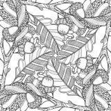 Composição mágica da floresta da natureza com carvalho Foto de Stock Royalty Free