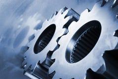 Composição mecânica no azul fotos de stock royalty free