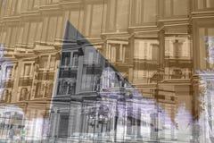 Composição moderna e tradicional 00612 da arquitetura Fotos de Stock Royalty Free