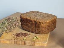 Composição orgânica do pão Conceito da padaria Imagens de Stock Royalty Free