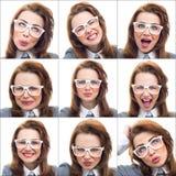 Composição ou colagem de expressões diferentes do lote fotos de stock