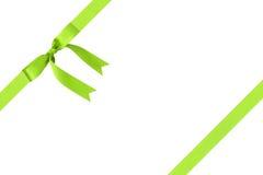 Composição para empacotar com curva verde clássica da fita fotografia de stock