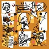 Composição para a ilustração do jazz Imagem de Stock Royalty Free