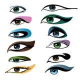 Composição para o olho diferente Imagem de Stock Royalty Free