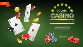 Composição realística do casino ilustração royalty free