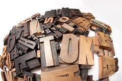 Composição redonda de casos de letra da cópia Imagem de Stock