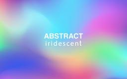 Composição retangular do fundo iridescente colorido abstrato Fotografia de Stock Royalty Free