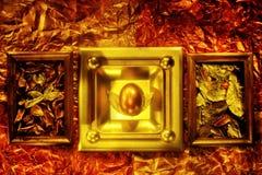 Composição retro do vintage com o ovo da páscoa no quadro Fotografia de Stock