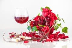 Composição romântica do dia do ` s do Valentim imagens de stock