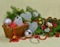 Composição romântica do Natal Fotos de Stock Royalty Free