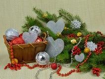 Composição romântica do Natal Fotografia de Stock Royalty Free