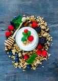 Composição saudável do café da manhã Fotografia de Stock