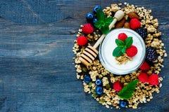 Composição saudável do café da manhã Foto de Stock