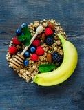 Composição saudável do café da manhã Imagens de Stock Royalty Free
