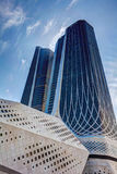 Composição vertical - torres gêmeas do tiro de Yang Imagem de Stock Royalty Free