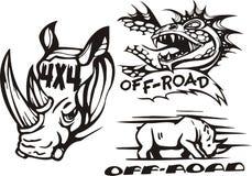 Composições 3. Off-Road. ilustração stock