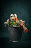 Composições artísticas com animais feitos malha Fotografia de Stock