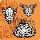 Composições da motocicleta - jogo 10 ilustração royalty free