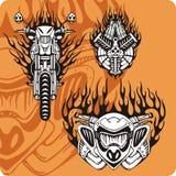 Composições da motocicleta - jogo 12 ilustração royalty free