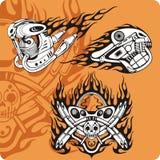 Composições da motocicleta - jogo 14 ilustração do vetor