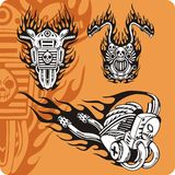 Composições da motocicleta - jogo 17 ilustração stock