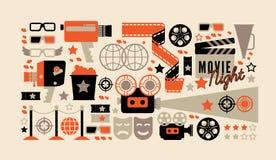 Composições do cinema com texto imagens de stock royalty free