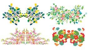 Composições florais ajustadas por feriados ilustração stock