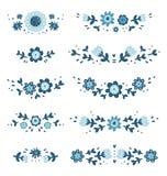 Composições florais decorativas ilustração do vetor