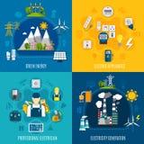 Composições lisas da eletricidade ilustração stock