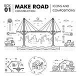 Composições modernas que constroem a linha bloco f da construção de estradas finamente Fotografia de Stock